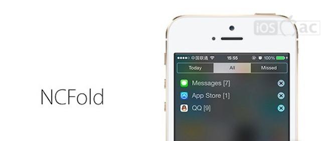 NCFold: Agrupar todas las notificaciones para leerlas cómodamente | Cydia