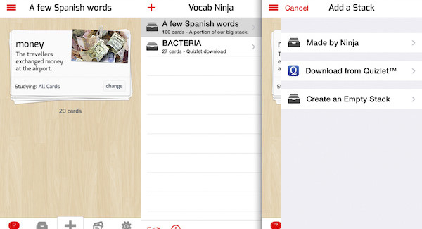 Vocab Ninja: una App para aprender idiomas y recordar palabras nuevas.