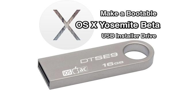 Beta de OS X Yosemite enun Pendrive bootable [Tutorial]