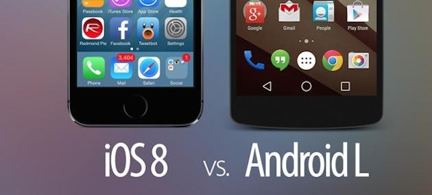 iOS 8 VS Android L: Comparación visual de los dos sistemas operativos