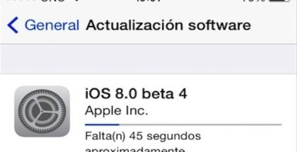 ios 8 beta 4 disponible en el dev. center