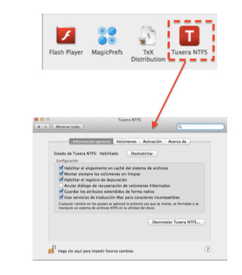 Configurando Tuxera NTFS
