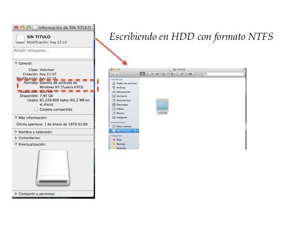 Utilizando Tuxera NTFS