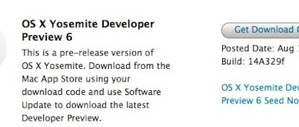 Developer Preview 6 de OS X Yosemite-iosmac