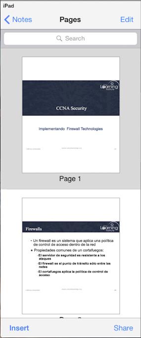 Opciones edición archivos PaperPort Notes