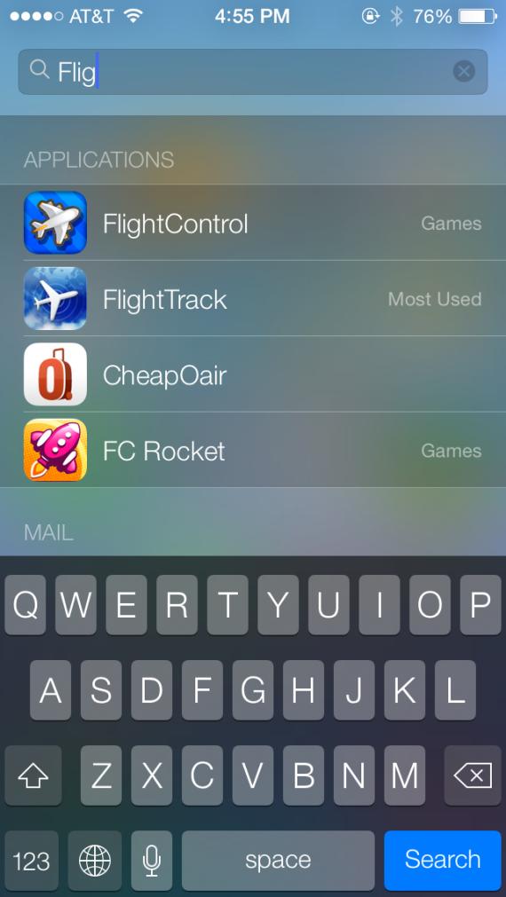 Spotlight en iOS