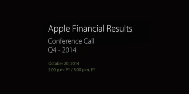 Apple anunciará sus resultados financieros para el 4T el 20 de octubre