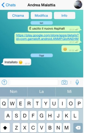 Versión de Whatsapp para iPhone 6