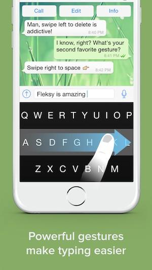 Fleksy, el teclado que mejora y aporta gestos al iPhone-2