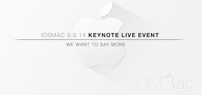 Keynote del iPhone 6 y el iWatch en Directo con iOSMac