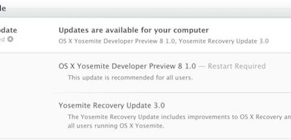 OS X Yosemite Developer Preview 8 y la Beta Publica 3 disponible
