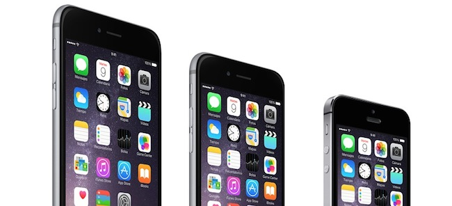 iPhone 6 y iPhone 6 Plus en comparación con el iPhone 5S