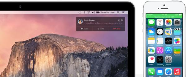 Yosemite ya integra llamadas desde iOS 8.1