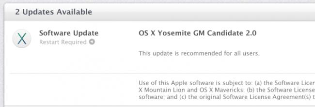 Descarga la Golden Master 2 y Beta 5 de Yosemite