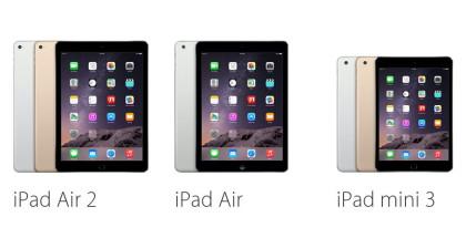 iPad Air y iPad mini 3