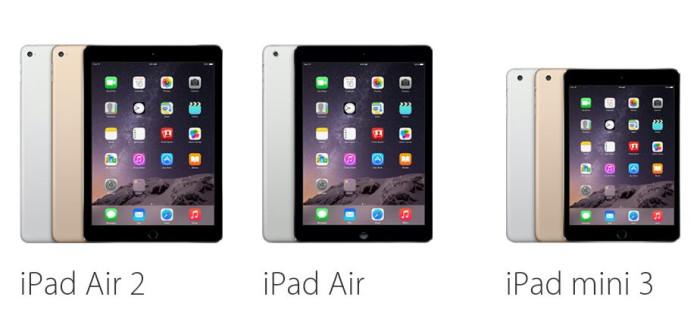Precio y disponibilidad del nuevo iPad Air 2 y iPad mini 3