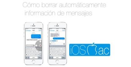 Cómo borrar automáticamente información de mensajes - iosmac