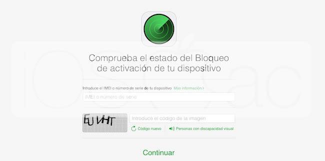 Comprobar el Bloqueo de iCloud de dispositivos iOS - iosmac