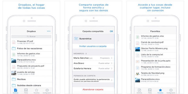 Dropbox 3.5 con soporte para iPhone 6 y Touch ID