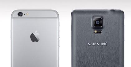 Trasera iPhone 6 y 6 Plus vs Galaxy Note 4