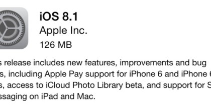 iOS 8.1 disponible - iosmac