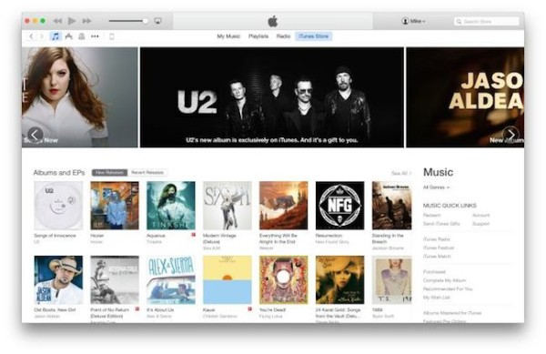 iTunes 12 OS X Yosemite - iosmac