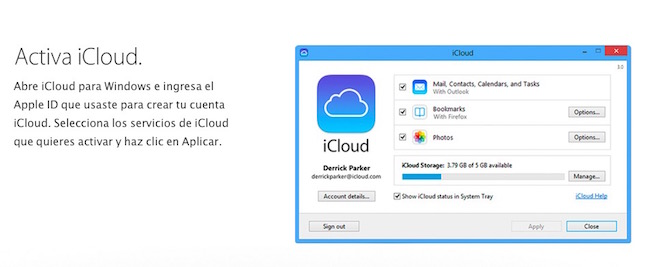 Apple actualiza iCloud para Windows