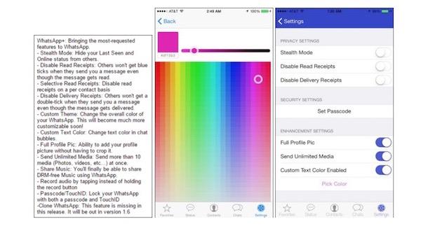 personalizar WhatsApp en iOS 8 - iosmac