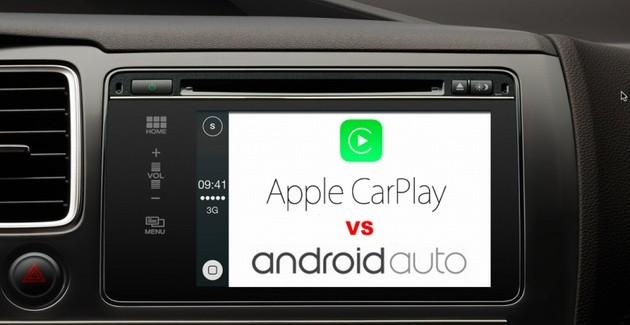Apple CarPlay contra Google Android Auto, comparación (Video)