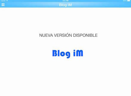 Blog iM, nueva versión compatible con iPhone 6 y iPad