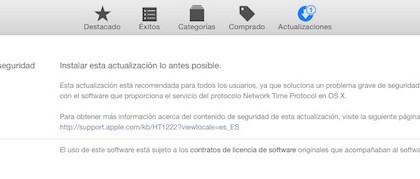 Apple lanza una actualización de seguridad para todos los usuarios de Mac