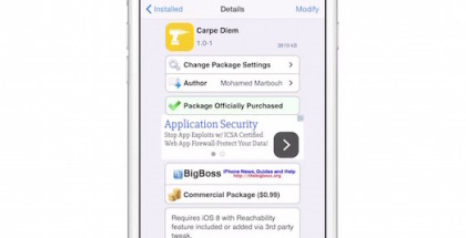 Carpe Diem nos trae widgets al centro de notificaciones con reachability