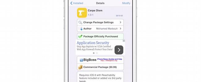 """""""Carpe Diem"""" nos muestra widgets en reachability"""