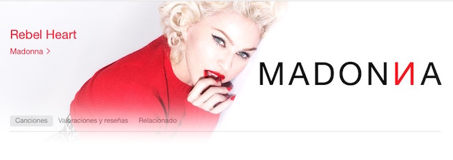 Rebel Heart-Madonna-iTunes - iosmac