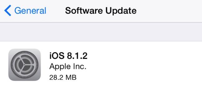 iOS 8.1.2 disponible con solución a varios errores