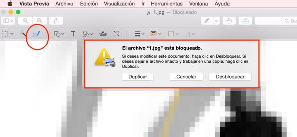Archivo protegido, OS X nos lo advierte y protege