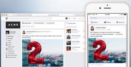 Facebook presenta Work para iOS