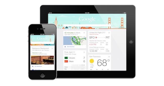 Google Now - iphone - ipad - iosmac