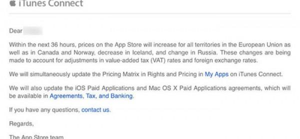 Suben los precios de las apps en la App Store