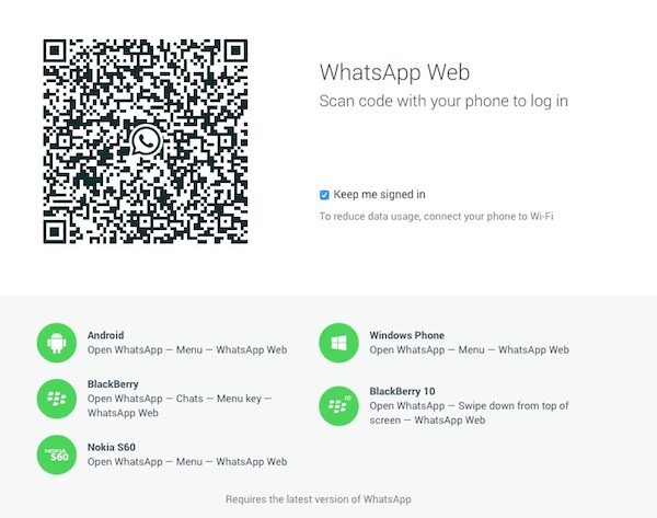 WhatsApp versión web-chrome