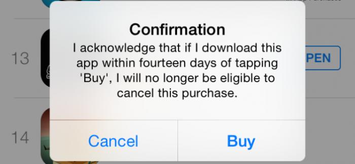 Apple arregla el problema con el reembolso de 14 días