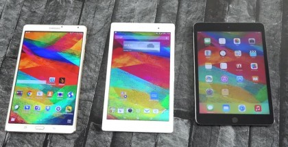 Comparativa: iPad Mini 3, Xperia Z3 Tablet Compact y Galaxy Tab S 8.4