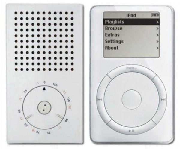 Braun pocket radio y Apple iPod. (diseños de Apple) (apple and braun designs)