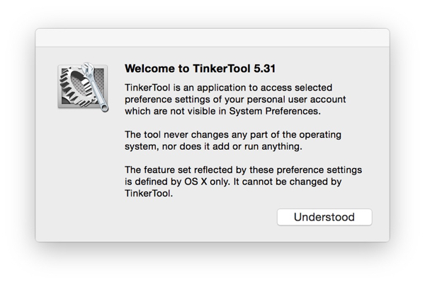 TinkerTool Notes / Notas TinkerTool