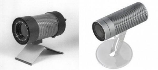 Braun emisor infrarrojo y Apple cámara iSight