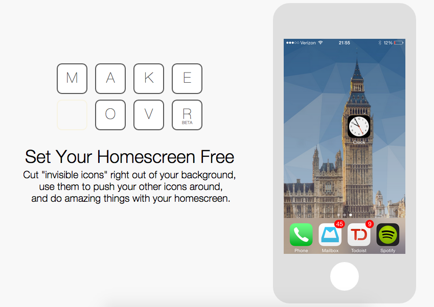 Makeovr, personaliza tu iphone sin hacer jailbreak