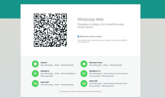 Como activar WhatsApp Web para iPhone