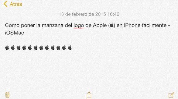 Cómo poner la manzana del logo de Apple () en iPhone fácilmente