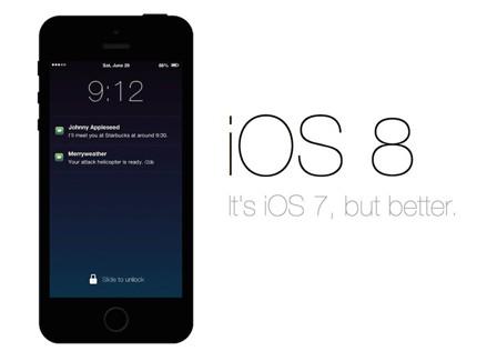 iOS 8 Mejor que iOS 7