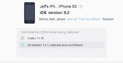 jailbreak iOS 8.2 beta 2 con TaiG en Windows